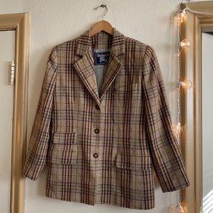 VTG Burberrys' of London Brown Plaid Jacket